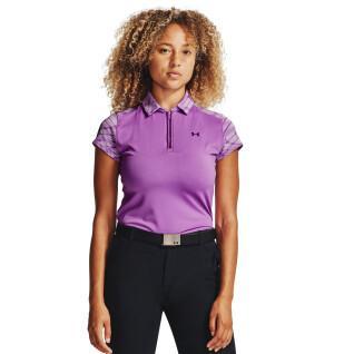Poloshirt für Frauen Under Armour à manches courtes Zinger Zip