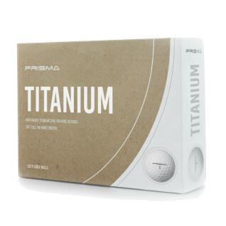 Schachtel mit 12 Bällen Prisma Titanium