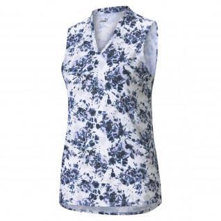Poloshirt für Frauen Puma Floral Tie